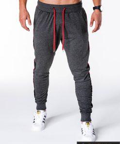 Tamsiai pilkos spalvos vyriškos sportinės kelnės vyrams internetu pigiau