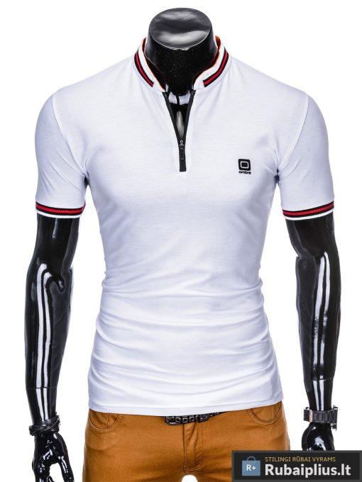 stilingi vyriški balti polo marškinėliai vyrams internetu pigiau