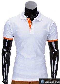 Balti polo marškinėliai vyrams internetu pigiau Gen S758