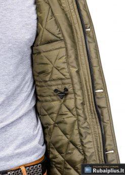 """stilinga Alyvuogių spalvos vyriška žieminė striukė vyrams """"Alaska"""" internetu pigiau"""