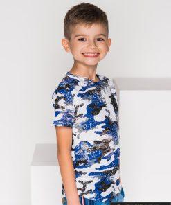 """Stilingi balti mėlyni marškinėliai berniukams """"Charli"""" internetu pigiau"""
