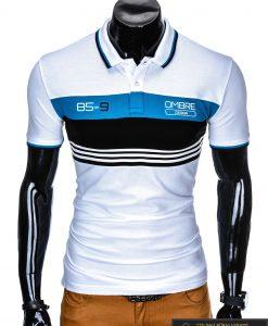 """Madingi vyriški balti polo marškinėliai vyrams """"Guvi"""" internetu pigiau"""