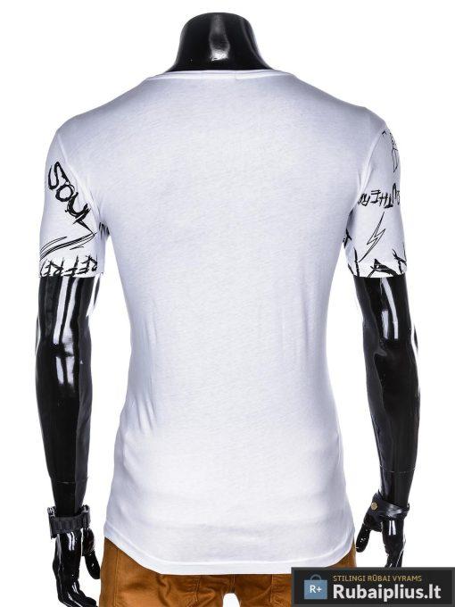 """Madingi balti vyriški marškinėliaisuužrašaisvyrams """"Soul"""" su paveiksliukais internetu pigiau"""