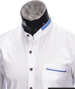 stilingi balti vyriški marškiniai ilgomis rankovėmis vyrams internetu pigiau