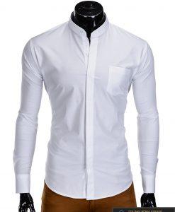 """Stilingi balti vyriški marškiniai ilgomis rankovėmis""""Mone"""" internetu pigiau"""