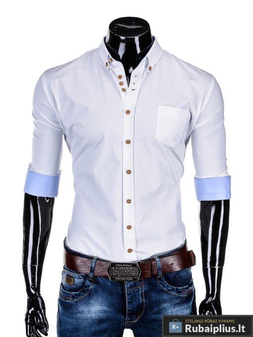 """Stilingi balti vyriški marškiniai ilgomis rankovėmis """"Soto"""" internetu pigiau"""