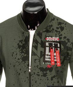 Vyriškas chaki spalvos džemperis vyrams internetu pigiau