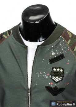 stilingas Chaki spalvos vyriškas džemperis vyrams