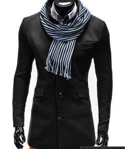 """Stilingas vyriškas juodas paltas vyrams """"Victor"""" internetu pigiau"""