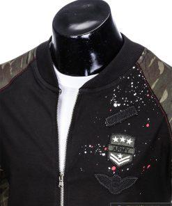 Stilingas juodas vyriškas džemperis vyrams