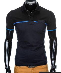 """stilingi Juodi-mėlyni polo marškinėliai vyrams """"Gorton"""" internetu pigiau"""
