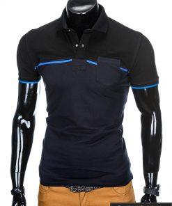 """stilingi Juodi-tamsiai mėlyni vyriški polo marškinėliai vyrams """"Gorton"""" internetu pigiau"""