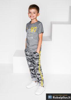 """JOGGER tipo Pilkos kamufliažinės laisvalaikio sportinės kelnės berniukams """"Demin"""" internetu pigiau"""