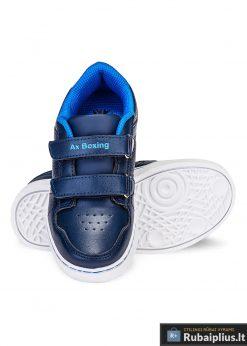 Madingi tamsiai mėlyni batai berniukams