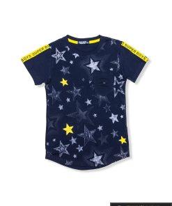 "stilingi Tamsiai mėlyni marškinėliaiberniukams""Super"" internetu pigiau"