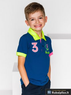 """stilingi Tamsiai mėlyni polo marškinėliai berniukams """"Ruddi"""" internetu pigiau"""