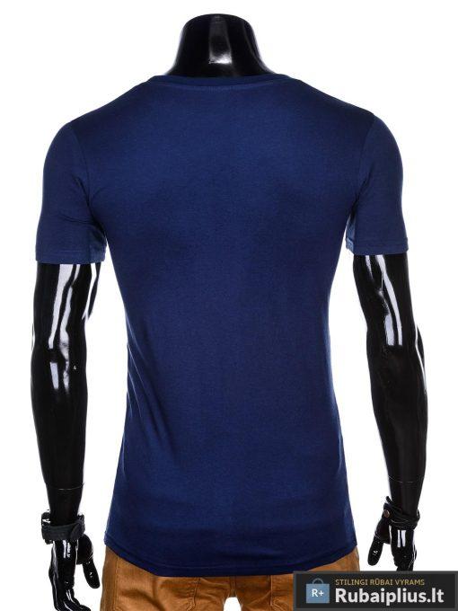 """Tamsiai mėlyni vyriški marškinėliai vyrams """"End"""" internetu pigiau"""