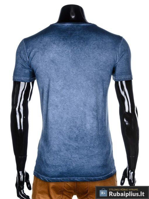 """Madingi tamsiai mėlyni vyriški marškinėliai vyrams """"Tian"""" internetu pigiau"""