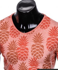 """Stilingi oranžiniai vyriški marškinėliai vyrams """"Fruto"""" smagus ananasų raštas internetu pigiau"""