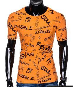 """Madingi Oranžiniai vyriški marškinėliai suužrašais vyrams""""Soul"""" paveiksliukais internetu pigiau"""