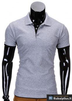 Pilki-melanžiniai polo marškinėliai vyrams internetu pigiau Gen S758