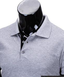 """Vienspalviai Stilingi pilki-melanžiniai vyriški polo marškinėliai vyrams """"Gen"""" internetu pigiau"""