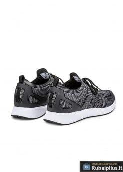 Madingi vyriški tamsiai pilki sportiniai batai vyrams