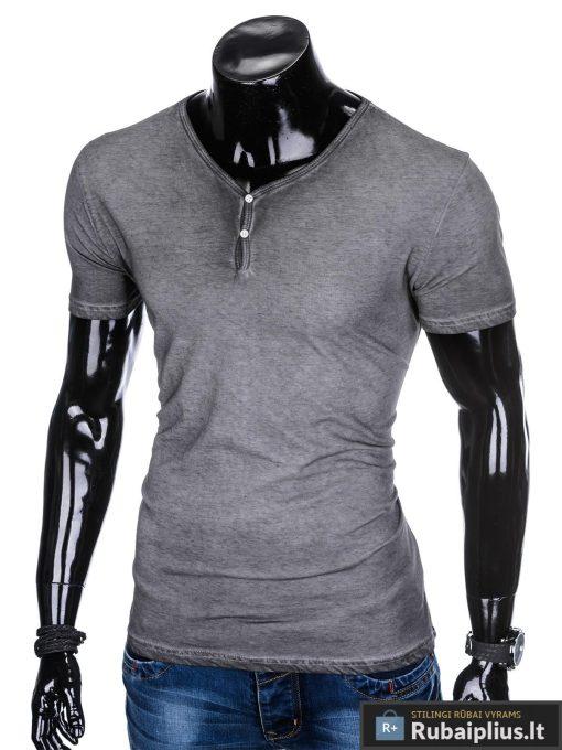"""Madingi tamsiai pilki vyriški marškinėliai vyrams """"Tian"""" internetu pigiau"""