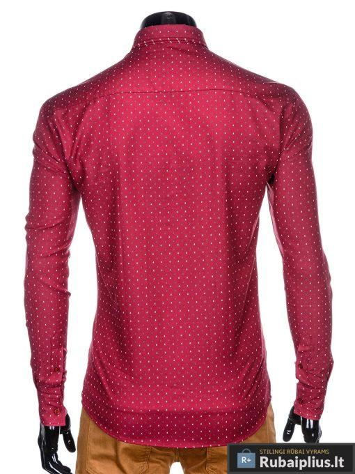 """stilingi raudoni vyriški marškiniai ilgomis rankovėmis vyrams """"Krib"""" internetu pigiau"""