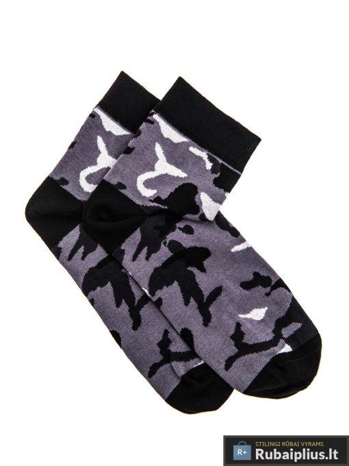 """Pilkos-juodos vyriškos kamufliažinės kojinės vyrams """"Army"""" internetu pigiau"""