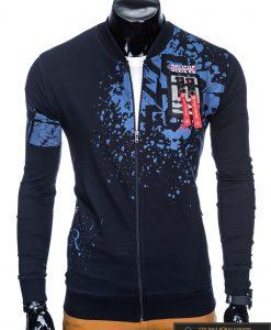 Stilingas vyriškas tamsiai mėlynas džemperis vyrams internetu pigiau