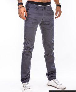 Tamsiai pilkos spalvosvyriškosklasikinės kelnės