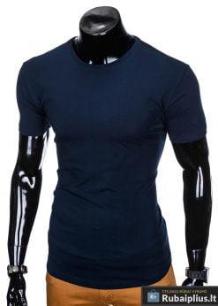 """vienspalviai mėlyni vyriški marškinėliai vyrams """"Mak"""" internetu pigiau"""