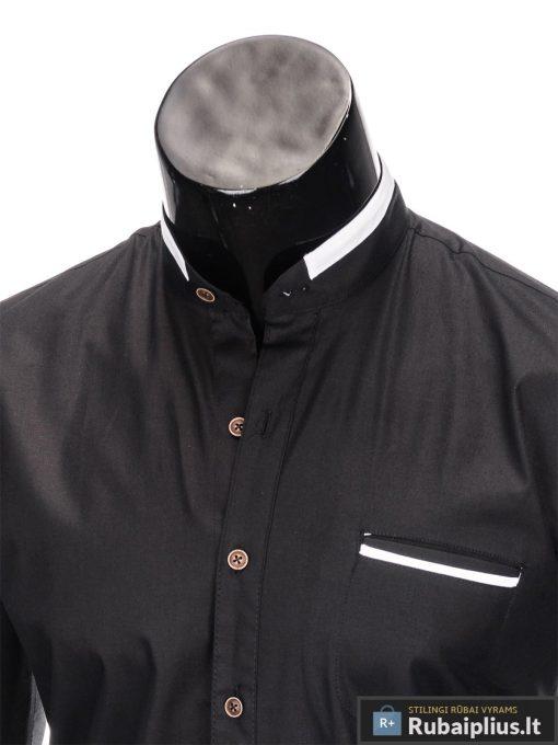 "madingi Juodi vyriški marškiniai ilgomis rankovėmis ""Mad"" internetu pigiau"