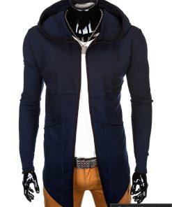 madingas tamsiai mėlynas vyriškas džemperis
