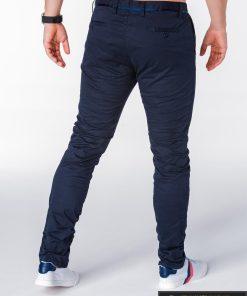 Tamsiai mėlynos vyriškoskelnės CHINO