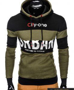 """madingas su gobtuvu Chaki vyriškas džemperis """"City"""" internetu pigiau"""