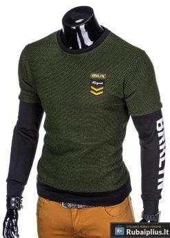 """stilingas Chaki vyriškas džemperis su užrašais ant rankovių""""Rey"""" internetu pigiau"""
