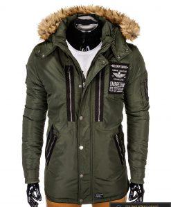 """ALASKA tipo PARKA Chaki žieminė vyriška striukė """"Colector"""" internetu pigiau"""