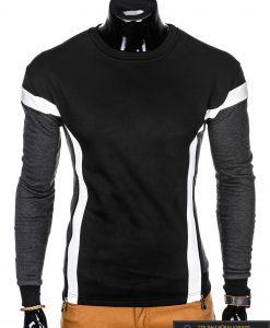 """stilingas Juodas vyriškas džemperis subaltomis detalėmis """"Orlan"""" internetu pigiau"""