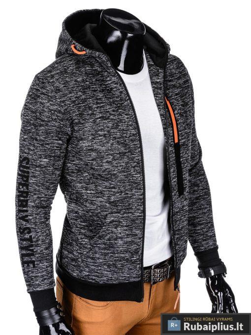"""madingas Juodas vyriškas džemperis su gobtuvu """"Glamar"""" internetu pigiau"""