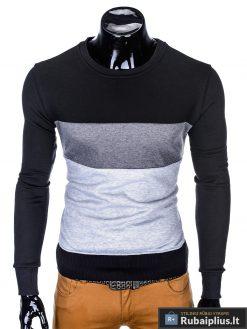"trispalvis stilingas Juodas vyriškas džemperis ""Malton"" internetu pigiau"