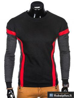 """stilingas Juodas vyriškas džemperis suraudonomis detalėmis """"Orlan"""" internetu pigiau"""