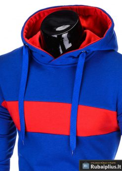 madingas Mėlynas vyriškas džemperis