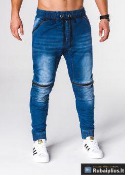 jogger tipo Stilingi mėlynidžinsai vyrams