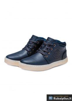 stilingi Tamsiai mėlyni laisvalaikio batai vyrams