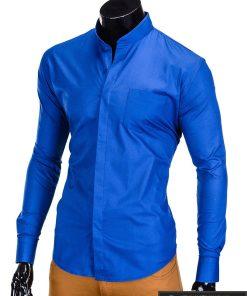 "Stilingi mėlyni vyriški marškiniai ilgomis rankovėmis""Mone"" internetu pigiau"