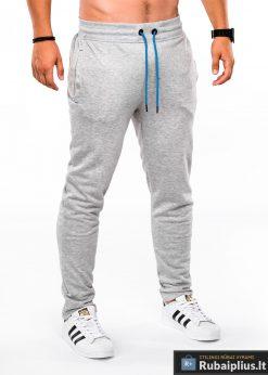 """Stilingos Pilkos sportinės kelnės vyrams """"Sil"""" internetu pigiau"""