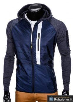 """lengva sportinio stiliaus Tamsiai mėlyna vyriška striukė """"Klaud"""" internetu pigiau"""