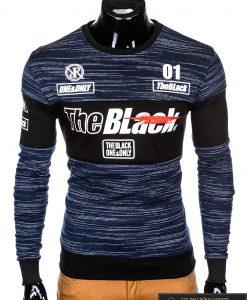 """madingas Tamsiai mėlynas vyriškas džemperis su užrašais """"Blak"""" internetu pigiau"""